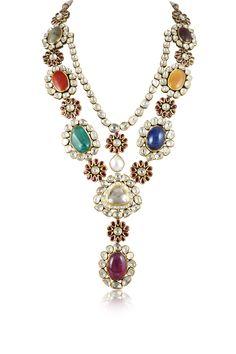 Hazoorilal Legacy navratna necklace