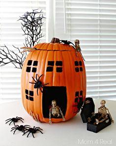 Halloween decorations : IDEAS & INSPIRATIONS  Pumpkin Decorating  Using Foam Pumpkins