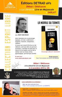 Rencontre/Dédicaces avec Alain Subrebost à Sarlat