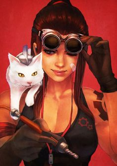 Bringing back the Casual Overwatch Series with Brigitte (ft. Overwatch Drawings, Overwatch Memes, Overwatch Fan Art, Overwatch Digital, Art And Illustration, Fantasy Characters, Female Characters, Cyberpunk, Game Character