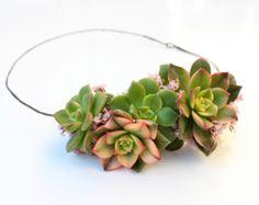 Succulent Wreath // Air Plants // Echeveria // Icy Blue di Eucca