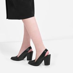 Covered Slingback Heels | CHARLES & KEITH