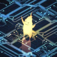 Glowing Circuitry by GorosArt