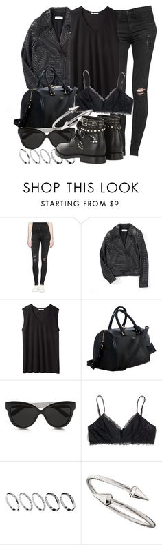 """""""Untitled #178"""" by mari-mmp ❤ liked on Polyvore featuring rag & bone/JEAN, A.L.C., T By Alexander Wang, Yves Saint Laurent, Linda Farrow, Madewell, ASOS and Jules Smith"""