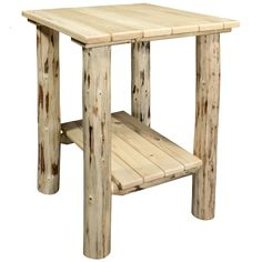 The Montana Woodworks Montana Indoor / Outdoor End Table is a smart addition to your rugged lodge-inspired living space, indoors or out. Woodworking Shows, Learn Woodworking, Woodworking Patterns, Easy Woodworking Projects, Popular Woodworking, Woodworking Furniture, Diy Wood Projects, Furniture Plans, Woodworking Plans