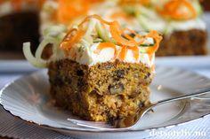 Sponset innlegg. Hei folkens! Er det noe som er populært å bake på høsten (i tillegg til eplekaker da), så er det gulrotkake! Denne spennende varianten inneholder revet squash i tillegg til revet gulrot. Squashen kjenner mani grunnen ikke smaken på i det hele tatt, men gjør gulrotkaken ekstra saftig. Det er dermed ingen grunn til å la seg skremme...  Kaken inneholder i tillegg brunt sukker, krydder, valnøtter og rosiner og dekkes med deilig ostekrem.  For å få frem de fine… Meatloaf, Cakes, Baking, Food, Cake Makers, Kuchen, Bakken, Essen, Cake