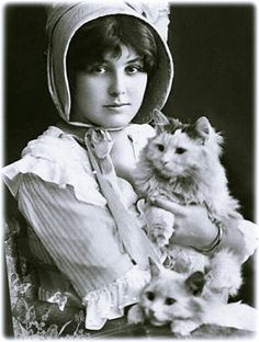 vintage photo woman holding cat Tap the link for an awesome selection cat and kitten products for your feline companion!