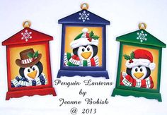 Penguin Lanterns Pattern DOWNLOAD by Jeanne Bobish