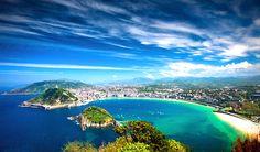 playa de la concha san sebastian imagenes fotos wallpaper pais vasco monte igueldo