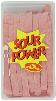 Sour Power Belts, Watermelon Belts), Tub Just the right of amount of sour enough to make you pucker Made in USA Pink Lemonade, Gourmet Recipes, Sour Belts, Watermelon, Candy, Make It Yourself, Tub, Count, How To Make