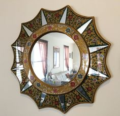 Vintage Beautiful Hand Crafted and painted Peruvian Mirror by DragonflyDesignLab on Etsy