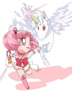 Super Sailor Chibimoon & Pegasus (Helios) from Season 4/Dream Arc/SuperS : )