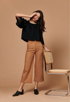 Looking for a pair of casual work pants? Know Where to Shop ethical and eco-friendly Wide Leg Pants at Jess with Less. Discover Ethical Brands in Women's fashion. Eco Clothing, Sustainable Clothing, Sustainable Fashion, Sustainable Outfits, Sustainable Living, Casual Outfits, Fashion Outfits, Womens Fashion, Fasion