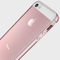 X-Doria Bump Gear Plus iPhone SE Aluminium Bumper Case - Rose Gold - Mobile Fun