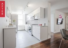 Before & After: A Cramped 1970s Kitchen Turns Sleek and Minimal — Sweeten | Apartment Therapy