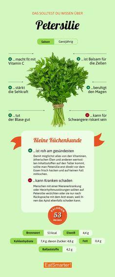 That 's why parsley is so healthy eatsmarter.de # nutrition That 's why parsley is so healthy eatsmarter. Salmon Y Aguacate, Clean Eating, Healthy Eating, Diet Books, Nutrition, Alkaline Diet, Food Facts, Calories, Eat Smarter