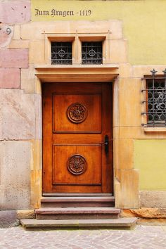 Old Door And Architectural Elements In Colmar France Photograph