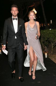 One of the most glamorous red carpets of the year, Cannes Film Festival, is officially here. Chandler Parsons and Toni Garrn make a glamorous entrance with the model wearing a metallic high-slit dress. See all the best red carpet fashion from Cannes here: