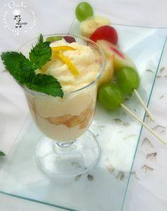 Crema+al+limone+con+spiedini+di+frutta