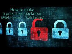 How to make a persistent backdoor (Metasploit / Kali Linux) - YouTube