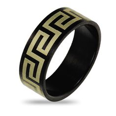 $9.99 - Men's Stainless Steel Ring with Greek Design