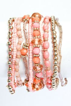 pink & coral arm candy