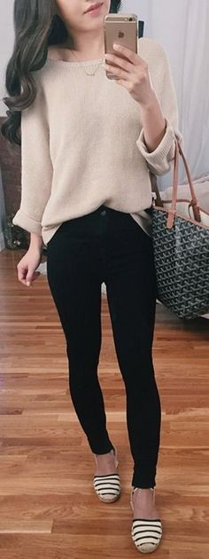 H&M top, JBrand Alana Jeans, Soludos Flats |Extra Petite #hm