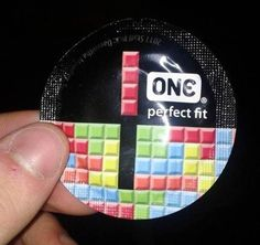 Perfect fit ! Condom tetris
