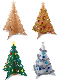 Cardboard Christmas Tree, Can be painted and decorated any way you want. Good way to keep kids away from your real tree!