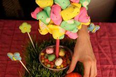 DIY Home Decor :DIY Peep Topiaries for Easter