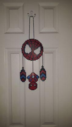 Perler Bead Wandbehang Comic Spiderman von WeesBoutique auf Etsy