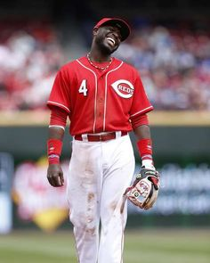 Brandon Phillips, the happiest baseball player around...ALWAYS smiling.