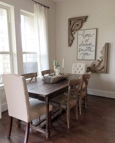 Elegant Dining Room With Both Traditional And Rustic Elements Prepossessing Dining Room Decorating Ideas Pictures Review