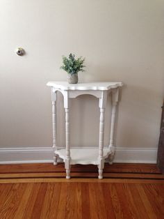 White Side Table by 2BirdsVintage on Etsy https://www.etsy.com/listing/289375891/white-side-table