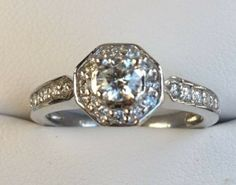 Diamond Halo engagement ring - $1400