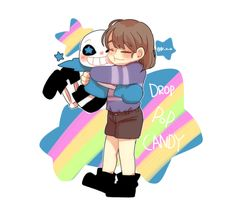 Frisk and Underswap!Sans from Undertale