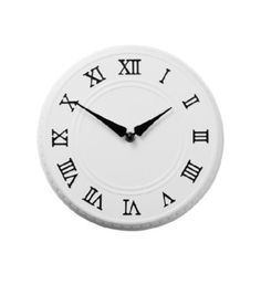 פינטה שעון קיר לבן