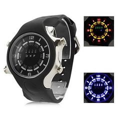 1d31d711f09 Men s and Women s Multifunction Silicone Digital LED Wrist Watch with Watch  Case…
