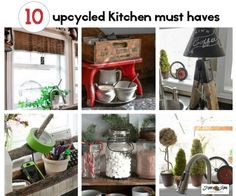 10 quirky, upcycled kitchen must haves you won't want to live without! By Funky Junk Interiors for ebay.com