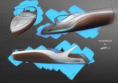 Humpback Boat Sketch WIP By Chris Pearce