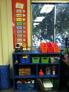 Organize classroom supplies