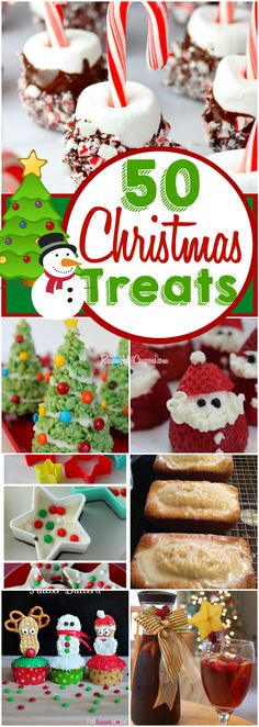Sponsored Link Repin It Here If you're looking for some unique and delicious recipes then you've come to the right place! Below is a huge list of 50 Christmas treats and desserts. These are perfect for Christmas parties or just for a fun snack after school. Enjoy! Chocolate Candy Canes Double Chocolate Star Bark Krispies …