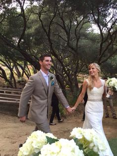 Heather Morris and Taylor Hubbell at their wedding