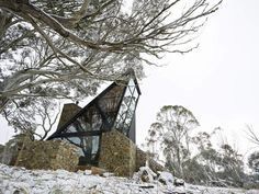 Winter Plain, Victoria, Australia - this ski resort cabin is called Under the Moonlight
