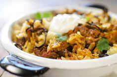 Curry med kjøtt og ris
