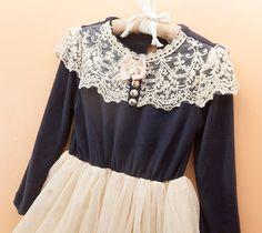 f33f60f1be4 Amazon.com  StylesILove Classic Victorian Embroidered Lace Tutu Girl Dress  (2-3 Years)
