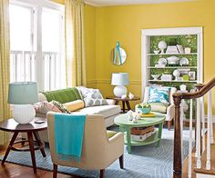 Look to nature, where a mix of shades creates pleasing landscapes: http://www.bhg.com/decorating/color/paint/yellow-paint-colors/?socsrc=bhgpin031514layeritin&page=9