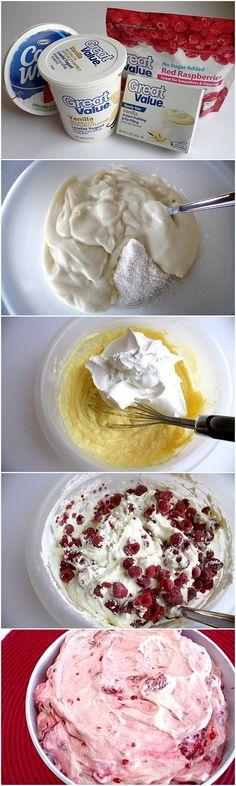 Raspberry Vanilla Jello Salad Recipe