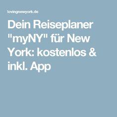 """Dein Reiseplaner """"myNY"""" für New York: kostenlos & inkl. App"""