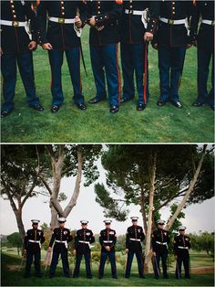 Marine Groomsmen | Rustic military wedding from Wedding Chicks #military weddings